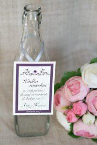 zawieszka na wódkę weselną